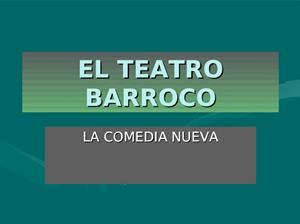 Resumen sobre el teatro Barroco