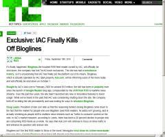 IAC Finally Kills Off Bloglines (TechCrunch)