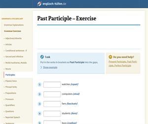 Past Participle - Exercise (englisch-hilfen.de)