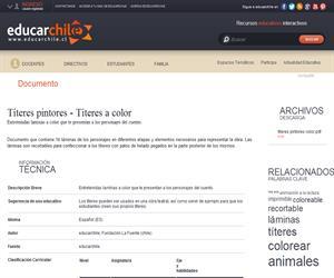 Títeres pintores - Títeres a color (Educarchile)