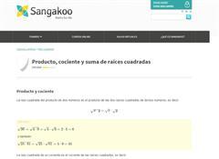 Producto, cociente y suma de raíces cuadradas