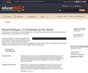 Manuel Rodríguez: El ofrecimiento de San Martín (Educarchile)
