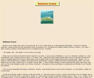 Robinsón Crusoe, lectura comprensiva interactiva