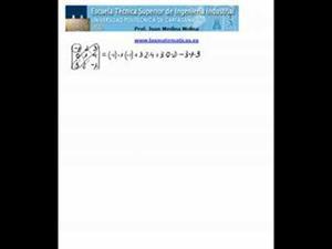Fórmula de Sarrus para el cálculo de un determinante