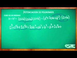 Potenciación de polinomios (cubo de un binomio)