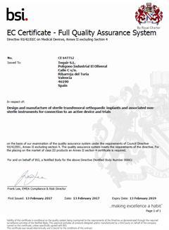 Certificado CE Implante Femoral KEEP WALKING-Descargar