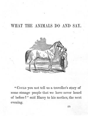 What the animals do and say (International Children's Digital Library)