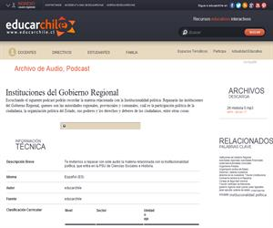 Instituciones del Gobierno Regional (Educarchile)