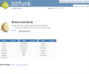 British Food Words