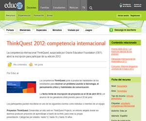 ThinkQuest 2012: competencia internacional