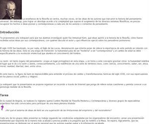 Webquest: ¿Por qué el sistema de ideas de Kant es una superación de las limitaciones del empirismo y del racionalismo?