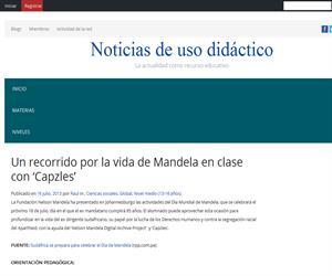 Un recorrido por la vida de Mandela en clase con 'Capzles' (noticias de uso didáctico)
