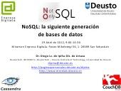 NoSQL: la siguiente generación de Base de Datos