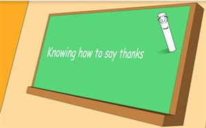Knowing how to say thanks