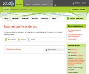Internet: políticas de uso