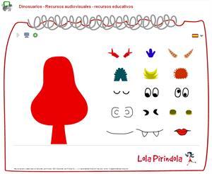 Diseña dinosuarios (Lola Pirindola)