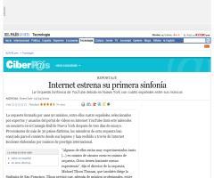 Internet estrena su primera sinfonía- El País 15/04/09