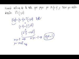 De punto y vector a ecuación continua