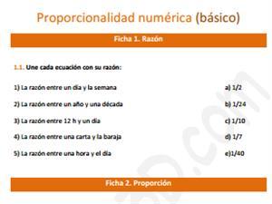 Proporcionalidad numérica (básico)