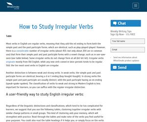 How to study irregular verbs