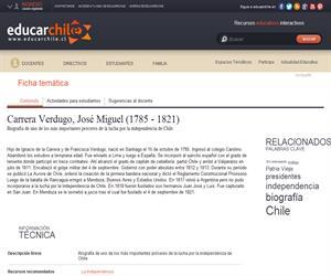 Carrera Verdugo, José Miguel (1785 - 1821) (Educarchile)