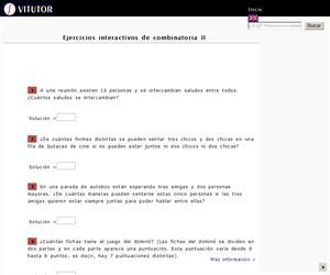 Ejercicios interactivos de combinatoria II (Vitutor)