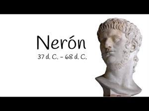 Emperador Nerón, entre Agripina, Séneca y el dios Baco