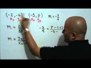 Ecuación con la pendiente de una recta (JulioProfe)