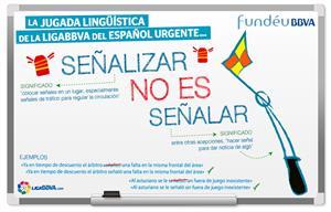 Señalar no es lo mismo que señalizar (Fundeu.es)