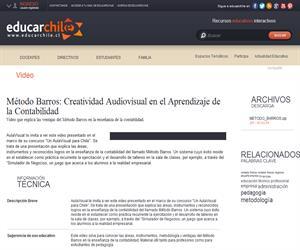 Método Barros: Creatividad Audiovisual en Contabilidad (Educarchile)