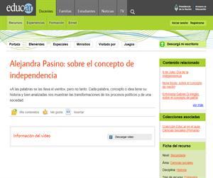 Alejandra Pasino: sobre el concepto de independencia