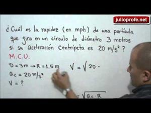 Problema 2 sobre Movimiento Circular Uniforme (JulioProfe)