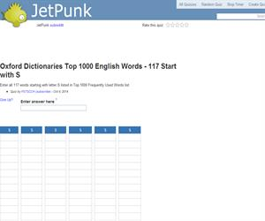 Oxford Dictionaries Top 1000 English Words - 117 Start with S