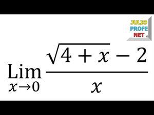 Solución de un Límite usando Conjugación (JulioProfe)