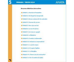 Libro digital de actividades para lengua de 5º de primaria (Anaya)