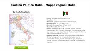Cartina Politica Italia - Mappa regioni Italia