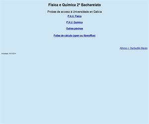 Exámenes de Física y Química para la PAU (Galicia)