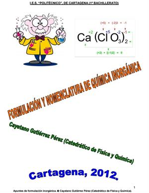 Formulación y nomenclatura de Química Inorgánica (IES Politécnico de Cartagena)