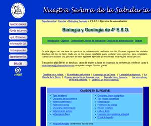 Ejercicios interactivos de biología y geología