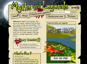 Myths and Legends from E2BN, para crear historias y aprender inglés (myths.e2bn.org)