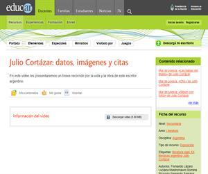 Julio Cortázar: datos, imágenes, citas