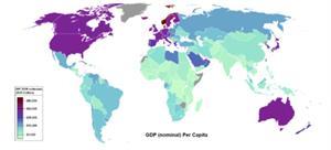 Mapa mundial de la renta percápita (Geografía Plus)