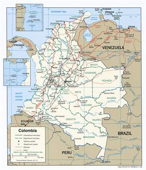 Colombia Maps,  Perry-Castañeda Map Collection - UT Library Online