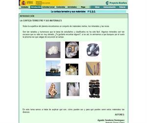 La corteza terrestre y sus materiales (Proyecto Biosfera)