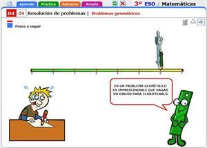 Problemas geométricos. Matemáticas para 3º de Secundaria