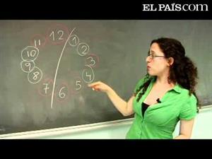 Desafío matemático: un reloj de dos colores
