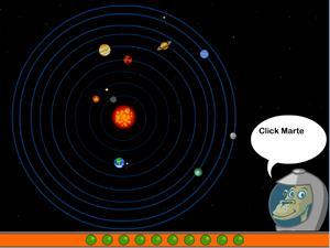 Sistema solar, un juego de ciencias de Cyberkidz