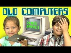 ¿Cómo reaccionan los niños antes un viejo ordenador?