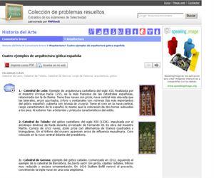 Cuatro ejemplos de arquitectura gótica española. (Selectividad.tv)