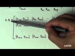 Álxebra Matricial: multiplicación de matrices